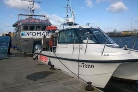 Minister of State Joe McHugh TD launched the INFOMAR Programme's new survey vessel, naming her the RV TONN.