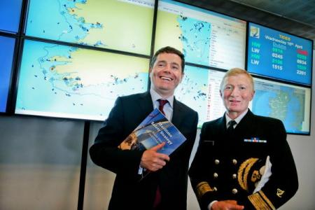 Image of the Minister for Transport, Tourism and Sport, Paschal Donohoe, TD, launching a new Maritime Safety Strategy 2015 – 2019.