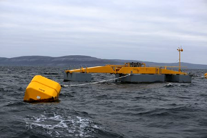 Seapower platform testing at Galway Bay wave energy test site. Photo credit Aengus McMahon