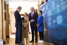Alicia O'Sullivan – Ireland and Selina Neirok Leem - Marshall Islands meet with Former US Secretary of State John Kerry and An Tanaiste Simon Coveney TD at the Ocean Wealth Summit in Cork