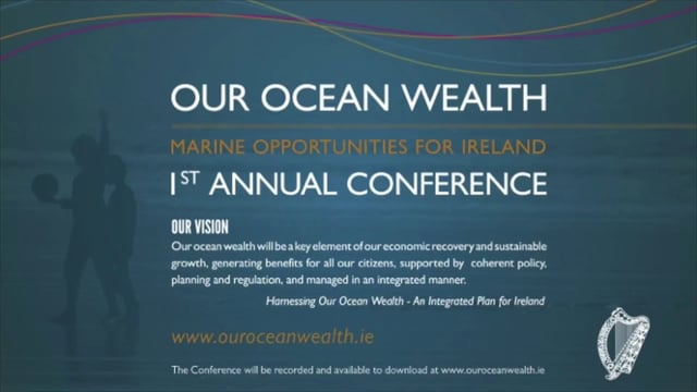 Ministerial Addresses Promoting Innovation to Drive a Thriving Marine Sector - Sean Sherlock, T.D., Minister of State at the Department of Enterprise, Jobs & Innovation