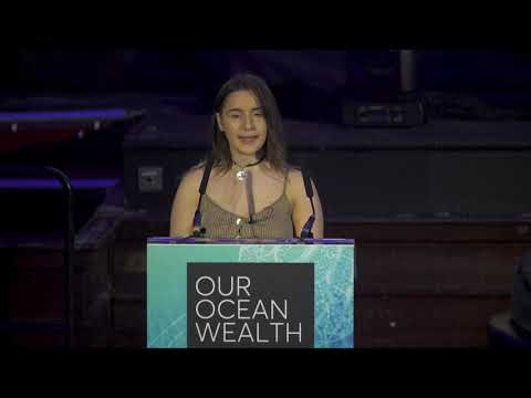 Ireland's Youth Ambassador to the Oceans, Alicia O'Sullivan delivered a powerful address to motivate people in Ireland